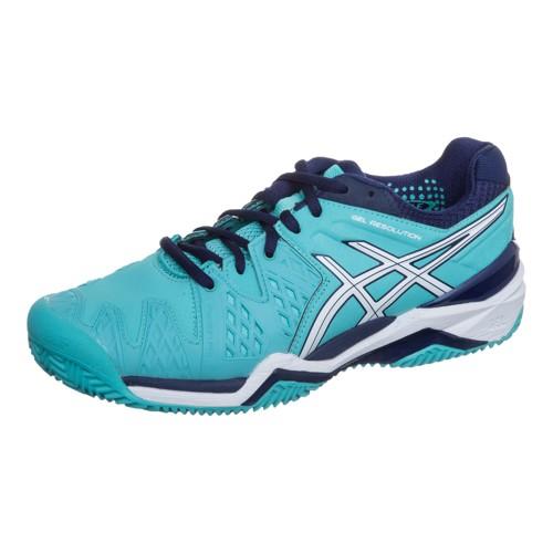 Кроссовки женские Asics Gel-Resolution 6 Clay Pool Blue\\White\\Indigo Blue -  Saletennis.com