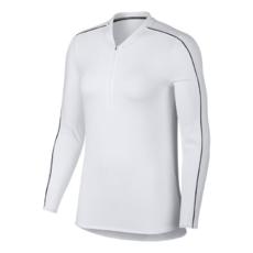 1f2334c5 Футболка с длинным рукавом женская Nike Court Dry 1/2 Zip Top - White/Black